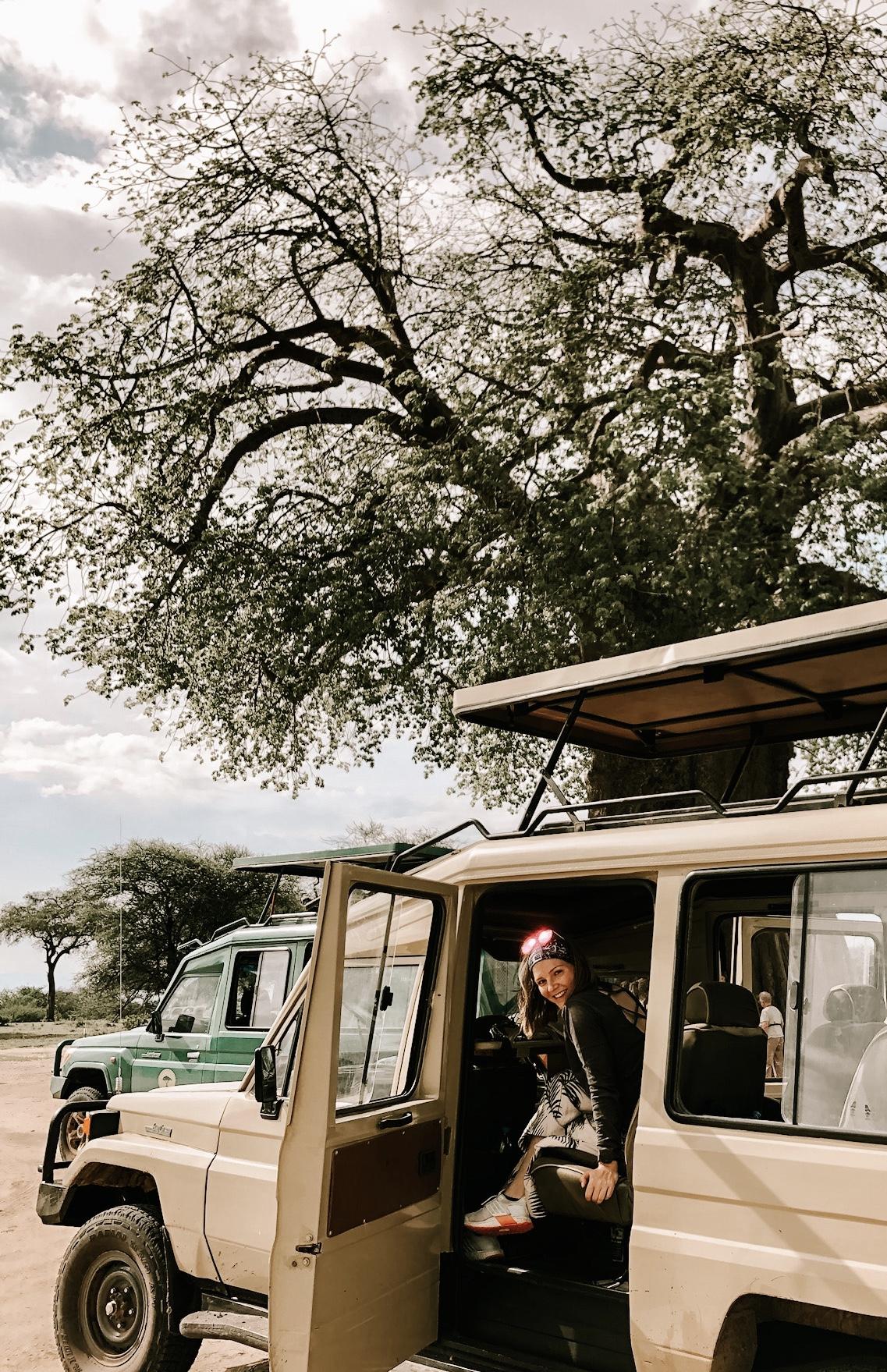 Mini van at Kenya safari tour