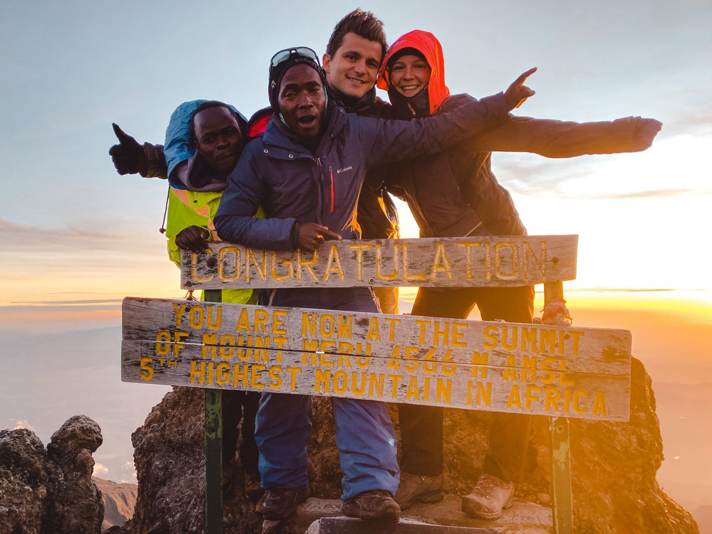 Conquering the summit of Mount Meru in Tanzania