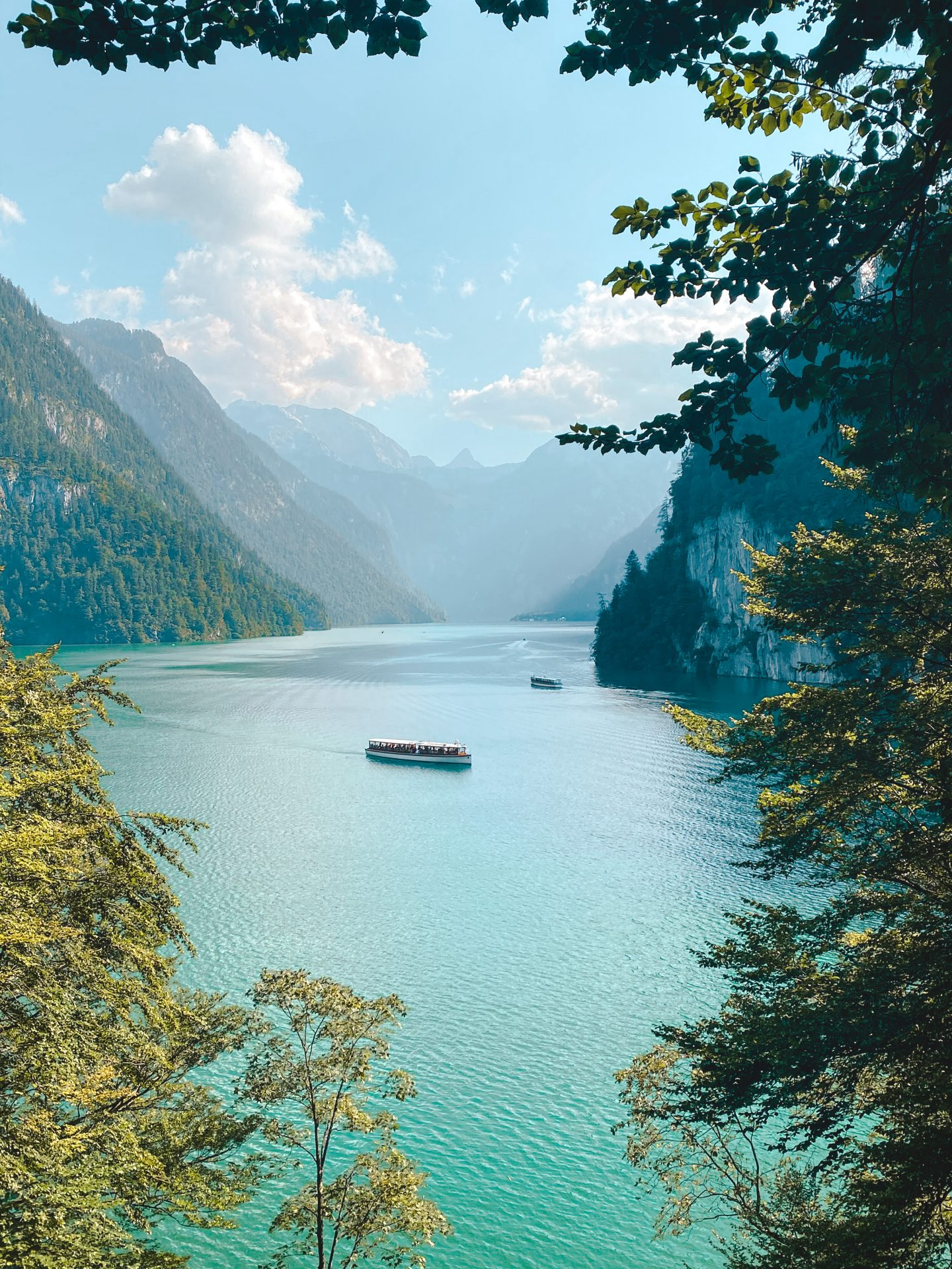 Malerwinkel, a famous spot to look at the Königssee in Germany