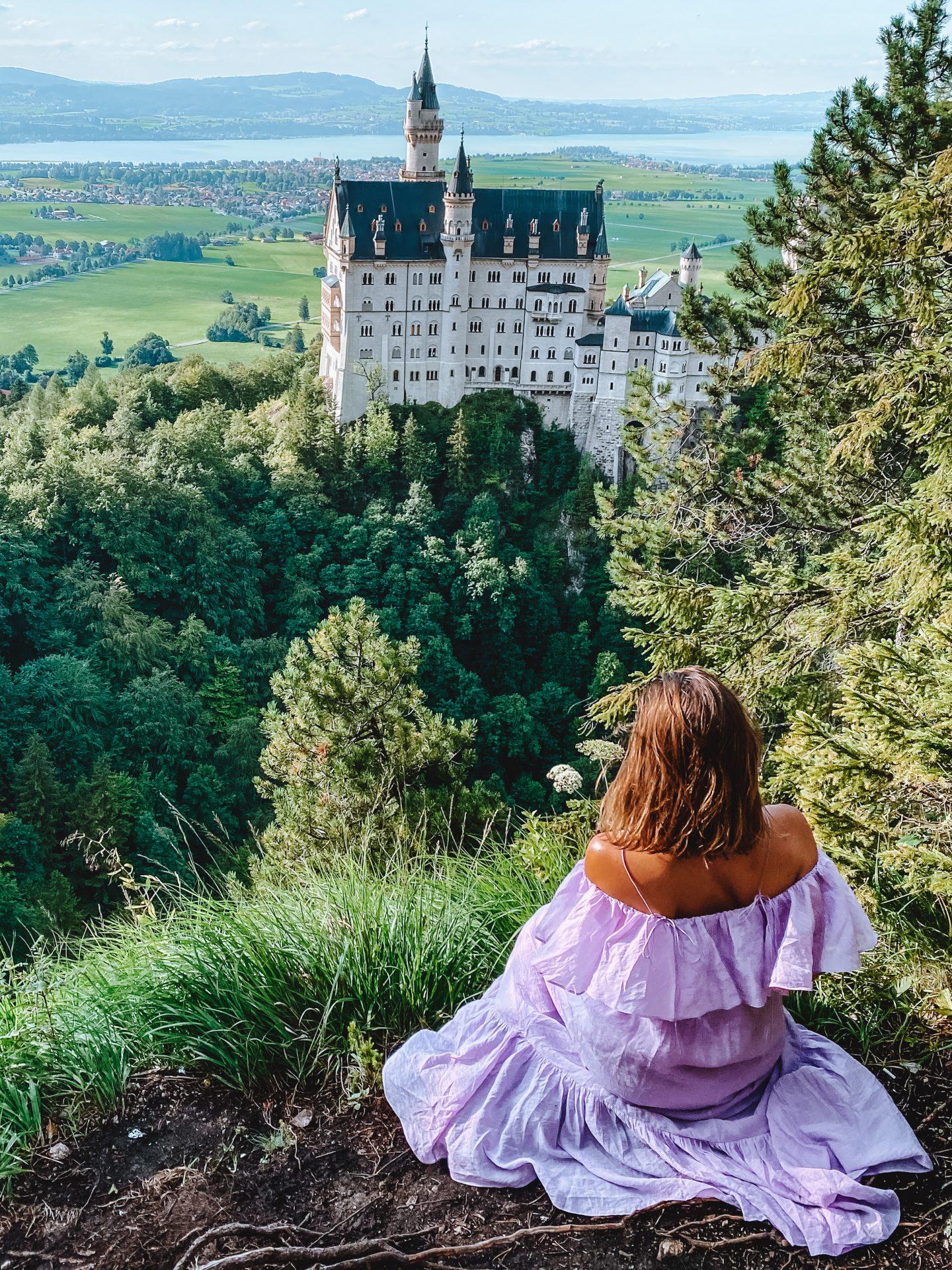 Neuschwanstein castle fairytale from the top