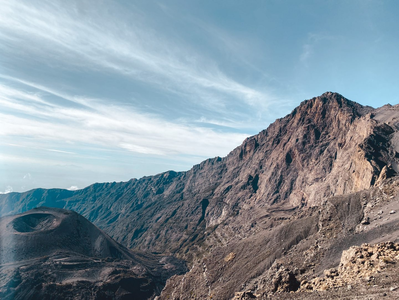 The Mount Meru Tanzania summit with crater
